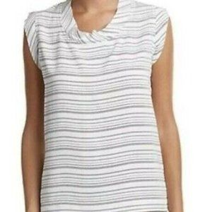 COPY - CAbi Madeline White Black Stripe Sleeveles…